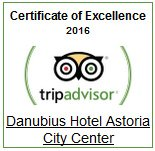 Certificate of Excellence 2016 Hotel Astoria, Budapest